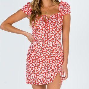 NWT Princess Polly Kitto mini dress red flower -4